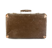 Old suitcase close-up isolated Royalty Free Stock Image