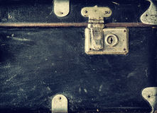 Old suitcase, fragment Stock Photo