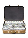 Old suitcase full of money Stock Image