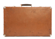 Old Suitcase isolated on white Royalty Free Stock Photos