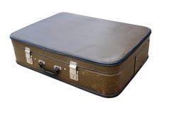 Old suitcase isolated on white background Stock Photo