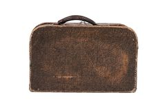 Old suitcase isolated on white background Royalty Free Stock Photography