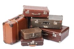 Old suitcase isolated on white background Stock Image