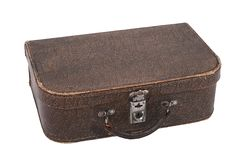 Old suitcase isolated on white background Stock Images
