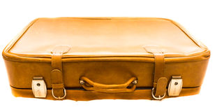 Old suitcase isolated on white background case travel Stock Photography