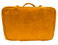 Old suitcase isolated on white background case travel Royalty Free Stock Photo