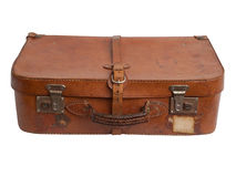 Old suitcase isolated. Stock Photos