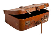 Old suitcase isolated. Royalty Free Stock Photo