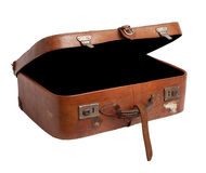 Old suitcase isolated. Stock Image