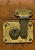 Old suitcase lock Royalty Free Stock Images