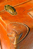 Old suitcase made out of leather Royalty Free Stock Photography