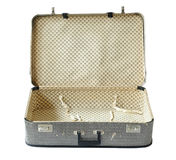 Old Suitcase opened isolated over white Royalty Free Stock Photos
