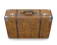 Old Suitcase Over White Royalty Free Stock Photo