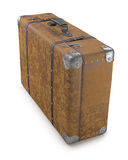 Old Suitcase Over White Royalty Free Stock Photos