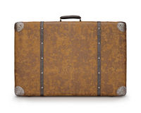Old Suitcase Over White Royalty Free Stock Images