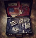 Old suitcase. Old retro suitcase Stock Photo