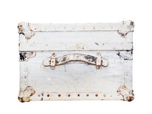 Old suitcase, side view Stock Images