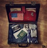 Old suitcase. For travel Stock Image