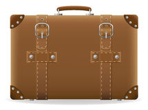 Old suitcase for travel vector illustration Royalty Free Stock Photography