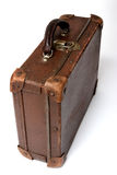 Old suitcase for traveling. On a white background Royalty Free Stock Images