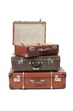 Old suitcase  on white background Royalty Free Stock Images