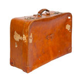 Old suitcase on white background. Stock Image