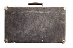 Old suitcase on a white background Royalty Free Stock Images