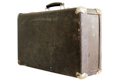 Old suitcase on a white background Stock Images