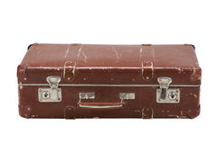Old suitcase on a white background Royalty Free Stock Photography