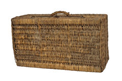 Old suitcase wicker Stock Image