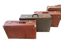 Old suitcases isolated on white background Stock Images