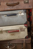 Old suitcases in museun Stock Image