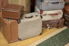 Old suitcases in museun Royalty Free Stock Photo