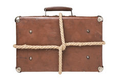 Old suitcases tied with rope Stock Images