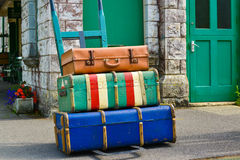 Old suite cases Royalty Free Stock Photo
