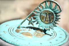 Old sun clock dial - Vintage sundial Royalty Free Stock Photo