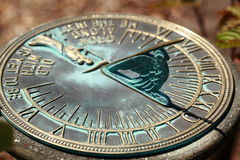 Old sun clock dial - Vintage sundial Stock Image