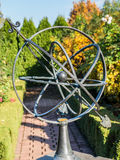 Old Sun Clock in garden Royalty Free Stock Image