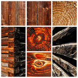 Old sun dried wood and timber motives Royalty Free Stock Photos