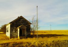 Old sun soaked School house. Royalty Free Stock Image