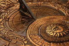 Old sundial stock photos