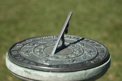 Old sundial in the park Stock Photo