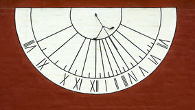 Old sundial on the wall Royalty Free Stock Photos