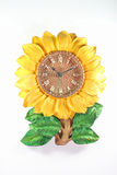 Old sunflower clock. Royalty Free Stock Images
