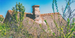 The old sunk roof Royalty Free Stock Photo