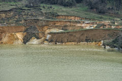 Old sunken mine silica sand with a layered coast 02 Stock Image