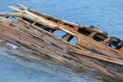 Old sunken ship Stock Photography