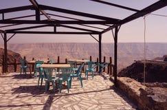 Old terrace in Jordan royalty free stock photos
