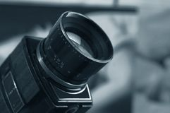 Old Super 8 cinematographic camera Royalty Free Stock Photography