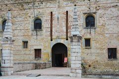 Old superior castle in Marostica, detail, Vicenza Stock Photo